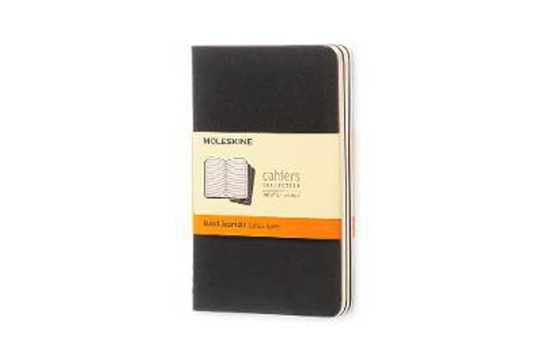 Picture of Moleskine Ruled Cahier - Black Cover (3 Set)