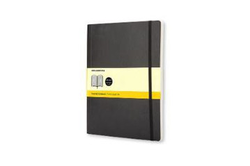 Picture of Moleskine Soft Extra Large Squared Notebook Black