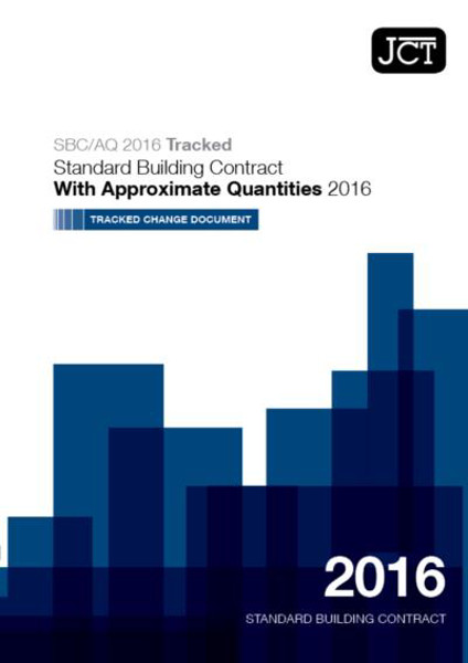 Picture of JCT: Standard Building Contract With Approximate Quantities Tracked Change 2016