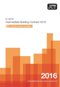 Picture of JCT: Intemediate Building Contract 2016 Tracked Change Document