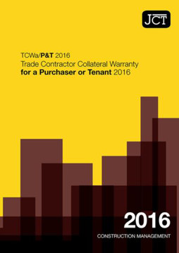 Picture of JCT: Trade Contractor Collateral Warranty for a Purchaser or Tenant 2016