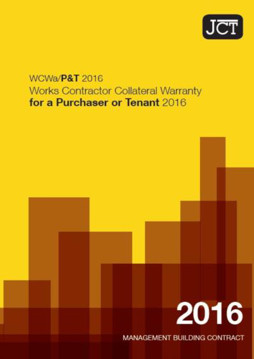 Picture of JCT: Works Contractor Collateral Warranty for a Purchaser or Tenant 2016