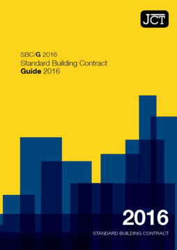Picture of JCT: Standard Building Contract Guide 2016