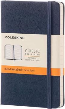 Picture of Moleskine Blue Pocket Ruled Notebook Hard cover