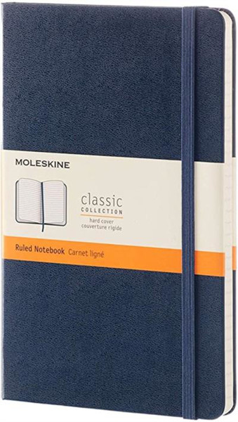 Picture of Moleskine Blue Large Ruled Notebook Hard cover