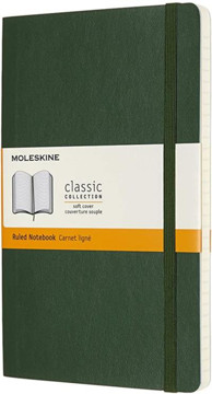Picture of Large ruled soft cover notebook Myrtle Green