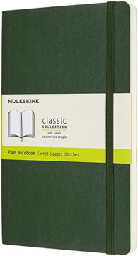 Picture of Large plain soft cover notebook myrlte green
