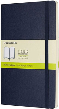 Picture of Large plain sapphire blue notebook soft cover