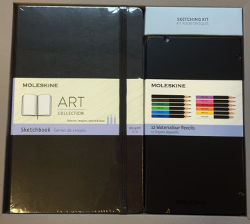 Picture of Moleskine Art Collection with 12 watercolour pencils