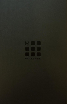 Picture of Moleskine Classic Leather Ruled Boxed Notebook (Black)