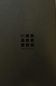 Picture of Moleskine Large Leather Ruled Notebook (boxed) blue