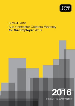 Picture of JCT: Sub-Contractor Collateral Warranty for an Employer 2016