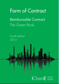 Picture of ICHEME - FORM OF CONTRACT - THE GREEN BOOK - REIMBURSABLE CONTRACTS 4TH ED. - UK VERSION 2013