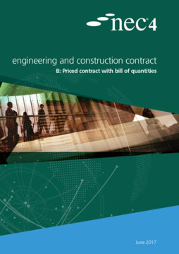 Picture of NEC4: Engineering and Construction Contract Option B: priced contract with bill of quantities