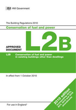 Picture of Approved Document L2B: Conservation of fuel and power in existing buildings other than dwellings