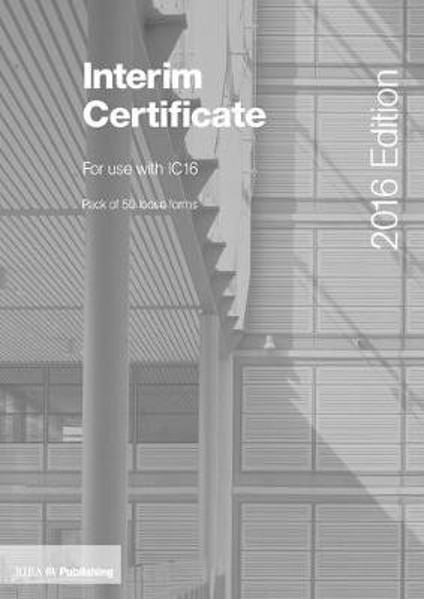 Picture of Interim Certificate for IC16