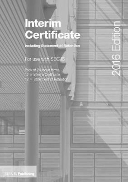 Picture of Interim Certificate including Statement of Retention for SBC16