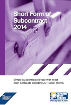 Picture of Short Form of Subcontract: 2014