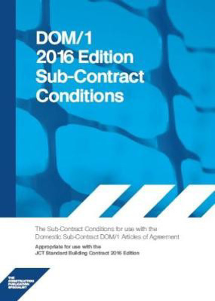 Picture of DOM1C 2016 DOM1C Domestic Subcontract - Conditions