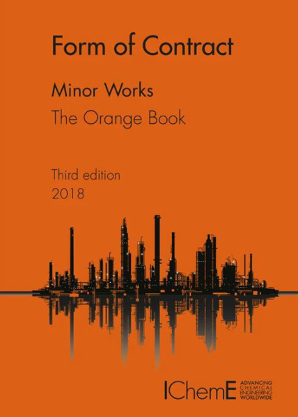 Picture of Icheme form of contract Minor works the Orange book 3rd edition 2018