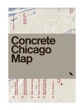 Picture of Concrete Chicago Map: Guide to Concrete and Brutalist Architecture in Chicago