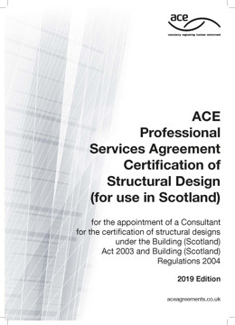 Picture of ACE 2019 Professional Services Agreement Certification of Structural Design 2019 (for use in Scotland)