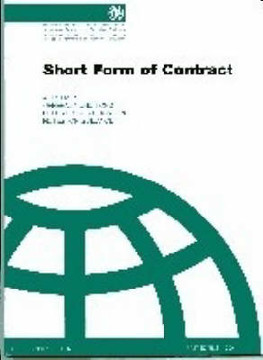 Picture of FIDIC (FC-AF-A-AA-09) Short Form Contract - (green book) 1st edition 1999
