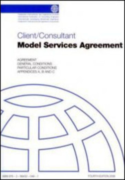 Picture of FIDIC 2006 Client/Consultant Model Services Agreement (White Book)