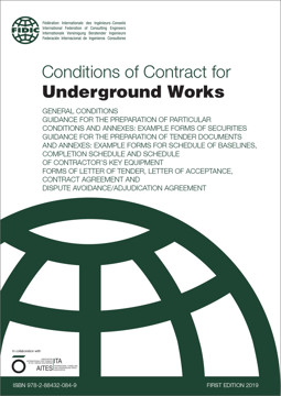 Picture of FIDIC 2019 (FC-UW-A-AA-10) Conditions of Contract for Underground Works (2019 Emerald book)