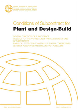 Picture of FIDIC 2019 (FC-OB-U-AA-10) Conditions of Subcontract for Plant and Design (yellow book 1999) 1st Ed