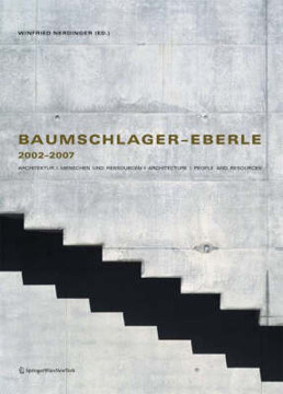 Picture of Baumschlager -eberle 2002-2007: Architektur, Menschen Und Ressourcen / Architecture, People and Resources