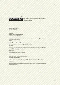 Picture of Footprint 19 - Delft Architecture Theory Journal. Spaces of Conflict