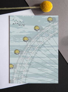 Picture of London Eye sunrise greeting card