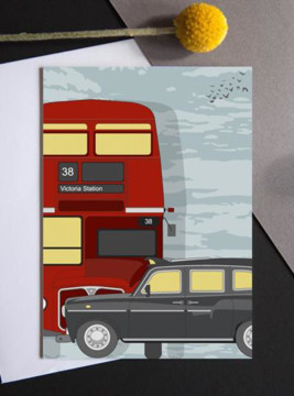Picture of London Transport sunrise card