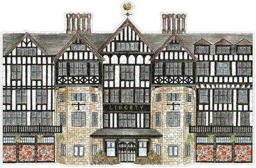 Picture of Liberty Tudor Building 750 Piece Shaped Puzzle