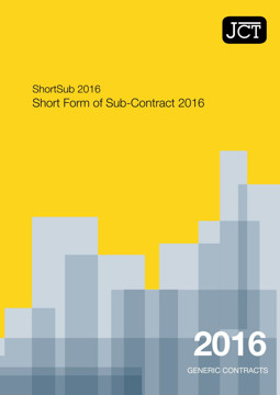Picture of JCT: Short Form of Sub Contract 2016 (ShortSub)