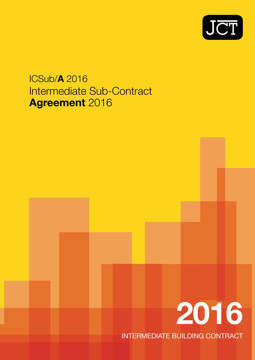 Picture of JCT: Intermediate Sub Contract Agreement 2016 (ICSub/A)