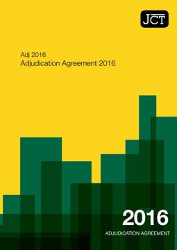 Picture of JCT: Adjudication Agreement 2016 (Adj)