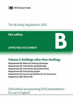 Picture of Approved Document B: Fire Safety - Volume 2: Buildings other than dwellings (2020 Update)
